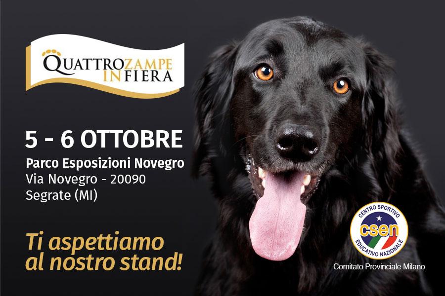 Risultati immagini per Quattrozampeinfiera - 5 e 6 ottobre al Parco Esposizioni di Novegro